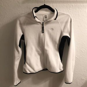 The North Face White Zip Fleece Jacket